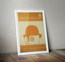 A clockwork Orange Inspired Retro Print/ Poster A3 - Minimalist Prints - Kubrick
