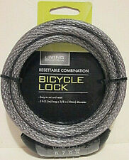 BICYCLE LOCK RESETTABLE COMBINATION BICYCLE LOCK BY LIVING SOLUTIONS