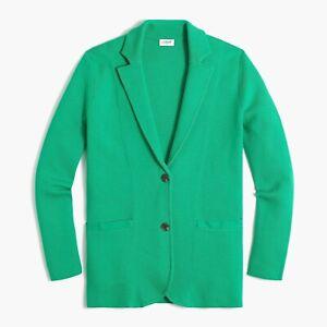 J.crew Kelly Green Sweater-blazer Sz M NWT$119.50  Item G9309 Vintage Kelly