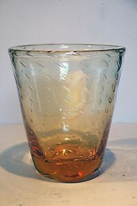 Whitefriars Amber Controlled Bubble - Large Vase #1