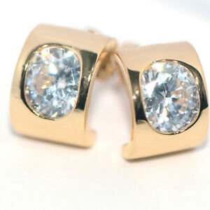 Unique Gorgeous Crystal Stud Earrings Gold Earings for Womens Girls Jewelry