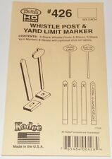 Kadee Ho scale # 426 ~ Whistle Post & Yard Limit Markers Sign Set (6) ~ New
