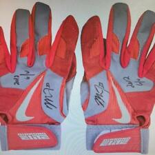 Mike Trout 2012 Rookie Year Game Used Batting Gloves Signed RC 2 Auto ! Anderson