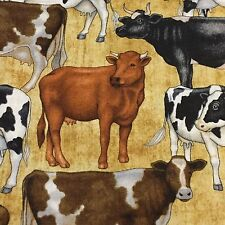 Bountiful Farm Animal coordinating 100% cotton fabric by the yard just Cows