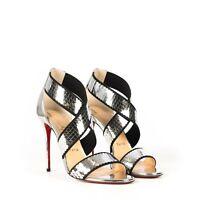 CHRISTIAN LOUBOUTIN 795$ Silver Xili Disco Ball 100 Sandals