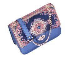 Vintage Mid Century Turkish Tapestry Cross body Bag Kilim Design Rug Carpet Styl