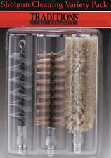Traditions .410 Ga. Bronze Bristle Bore Brush/Cotton Swab Variety 3 Pack # A1673