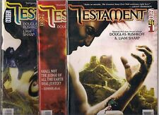 TESTAMENT LOT OF 3 - #1 #2 #3 (NM) DC VERTIGO, DOUGLAS RUSHKOFF & LIAM SHARP