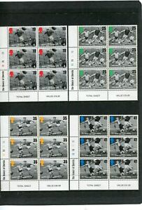 GB Commemoratives 1996 European Football Championship in Cylinder Blocks of 6