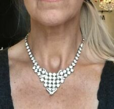 1950s Costume Diamante Necklaces