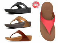 FitFlop Lulu Leather Toe Womens Sandals Ladies Summer Shoes Flip Flops Size 4-8
