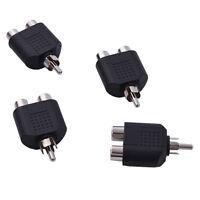 4x RCA Y Splitter AV Audio Video Plug Converter 1-Male to 2-Female Cable Adapter