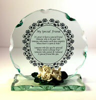 My Special Friend Inspirational Poem Cut Glass Plaque Special Gift  #1