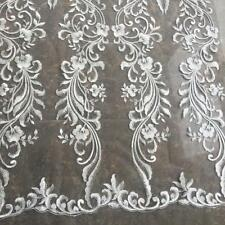 Bridal Embroidery Lace Fabric Crafts Material DIY Wedding Dress Costumes 33 cm