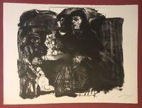 Alfred Hrdlicka, Portraitstudie, Lithographie, 1985, handsigniert