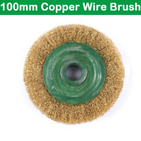 100mm Rotary Copper Wire Brush Crimp Bevel Wheel Cup Angle Grinder