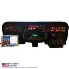 Flight Velocity Low Profile Cockpit Panel -Saitek/Logitech Flight Sim Compatible
