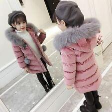 Children's Clothing Winter Jacket For Girls Thicken Coat Hooded Velour Outwear