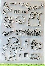 HOLIDAY HELPERS Stamp Set Christmas Bear Mouse Snowman Stamptember