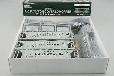 HO Scale Kato Kit 38-0107 EL Erie Lackawanna ACF 70 Ton Covered Hopper 3-Pack