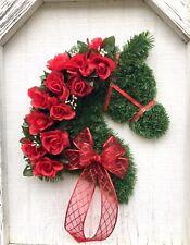 Horse Head Wreath, Rose Wreath, Ready to Ship
