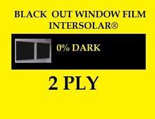 "20"" x 10 Feet Black Out Window film tint Extra Dark 0% Usa Intersolar® 2 ply"