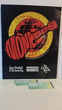 The Monkees 1986 - 20th Anniversary Program & Two Ticket Stubs