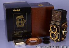 ROLLEI ROLLEIFLEX 2.8F XENOTAR AURUM GOLD CAMERA W/ BOX +CPS +SHDE MINT