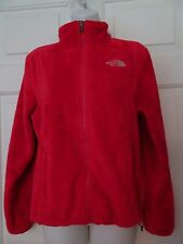 NORTH FACE LADIES SIZE SMALL PETITE-RED-POLAR FLEECE JACKET/COAT