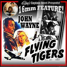FLYING TIGERS  (1942) John Wayne 16mm Feature Film !