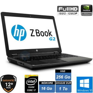"""HP ZBOOK 17 G2 16Go SDD 256Go + HDD 1To 17.3"""" FHD WIN10 PRO 64 GARANTIE 1 AN"""