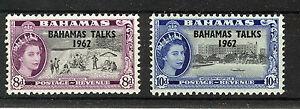 BAHAMAS 1963 BAHAMAS TALKS SG224/225  MNH