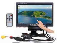 "7"" Auto Reverse Colori LED display VGA RCA AV POS TOUCH SCREEN TFT LCD Monitor UK"
