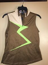 Jamie Sadock Shirt S Sleeveless 1/2 Zip Stretch Golf Casual XS