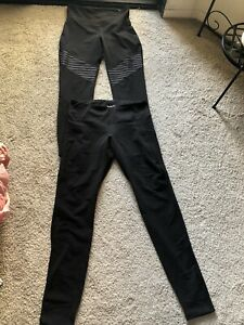 lot of 2 old navy active leggings Go Dry High Waisted Bottoms athletic black M