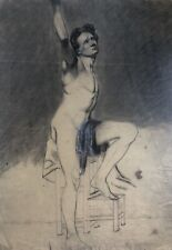 1880s  French pencil / Chalk drawing on Paper