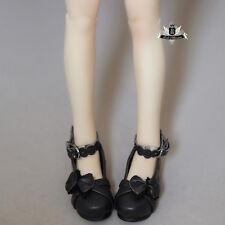 1/4 BJD Shoes MSD Dollfie MID Bow Lolita Black Shoes DOD AOD SOOM AF DZ Dollmore