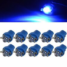 10x T5 B8.5D LED Dash Instrument Light Blue Car Wedge Dashboard Bulb Globe DC12V