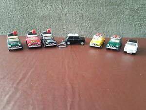 1:64 scale Mini Coopers x 7 pull back - Made in China