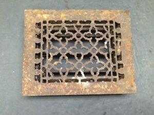 Architectural Salvage Vintage Cast Iron Heat Grate Register Vent