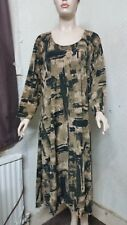 Plus Size 30-32 Long Quirky Lagenlook Maxi Dress  Fit Size 5XL