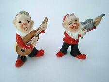 Vintage Elves Pixies with Guitar and Violin Japan Read Description