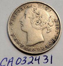 1865 Newfoundland Silver 20 Cent Twenty VICTORIA NFLD CA032431