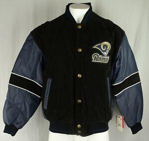 St. Louis Rams Vintage NFL G-III Men's Snap Up Leather Jacket