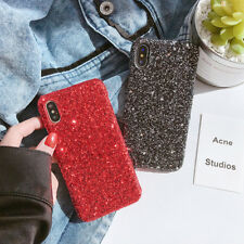 For iPhone XS Max 6s 7 8 Bling Christmas Gift Sparkle Glitter Hard PC Case Cover