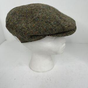 Wigens Magee tweed lambswool Newsboy Hat Wool Cap 57 Size US 7.5 UK 7 New