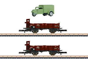 Märklin 82327 Spur Z Güterwagen-Set O 10  2-teilig + Lieferfahrzeug #NEU OVP#