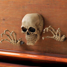 SKELETON WALL DECOR SET: Skull and Bone Hands Halloween Party Decoration NEW