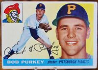 1955 Topps Baseball Card #118 Bob Purkey, Pittsburgh Pirates - VG