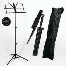 More details for new glarry folding sheet music tripod stand holder metal portable with carry bag